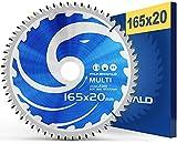FALKENWALD ® Lama per Sega Circolare 165 x 20 mm - Ideale per Legno - Metallo e Alluminio - Compatibile con Bosch & Makita - Alta Qualità