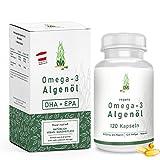 Omega-3 Algenöl Softgel Kapseln hochdosiert [ 1000mg ] - 120