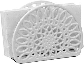 Sizikato Pure White Ceramic Tabletop Napkin Holder for Kitchen Restaurant Home Decor