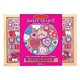 Preis am Stiel Perlenketten Bastelset ''Sweet Hearts Bead'' | Ketten | Kreativ | Bastelmaterial | Spaß | Perlen | Herzen | Hobby | Geschenk für Kinder