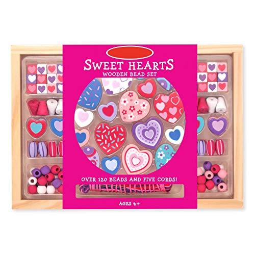 Preis am Stiel Perlenketten Bastelset \'\'Sweet Hearts Bead\'\' | Ketten | Kreativ | Bastelmaterial | Spaß | Perlen | Herzen | Hobby | Geschenk für Kinder