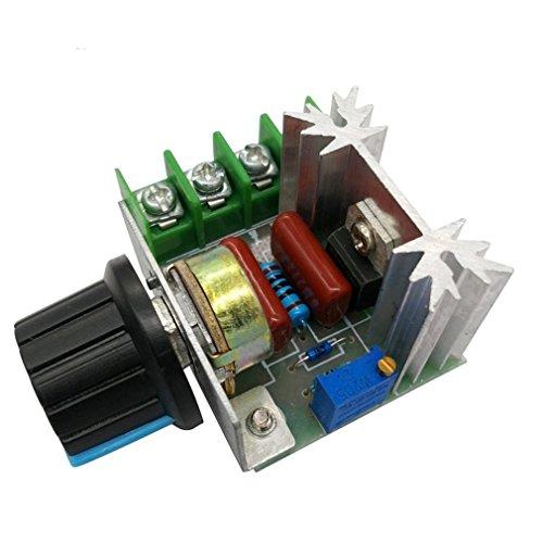 DollaTek 25A PWM Regulador de Control de Velocidad del Motor de CA 2000W Regulador de Voltaje Ajustable 50-220V