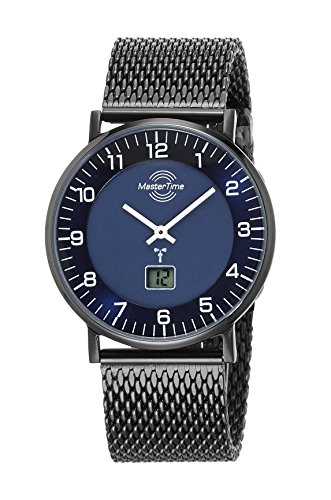 Master Time Funk Quarz Herren Uhr Analog-Digital mit Edelstahl Armband MTGS-10559-32M