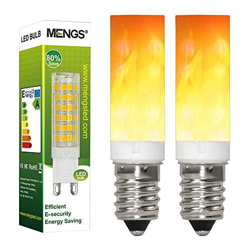 GRANVOO 2-er Pack E14 LED Flammen Lampe PC + Keramik Material 0.5W LED Leuchtmittel Flammenfarbe 10lm 36X2835 SMD AC 220-240V