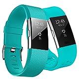 KUTOP pour Fitbit Charge 2 Bracelet, Fitbit Charge2 Remplacement du Bracelet de Montre en TPU Silicone Molle Sportif et...