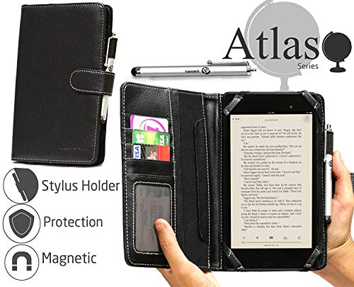 Navitech Black Bycast Leather Flip Open 7 Inch Book Style Carry Case / Cover for the Acer Iconia One 7 B1-780