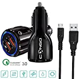 Congo Dual Port High Speed Car Charger adapter with Qualcomm Quick Charge 3.0