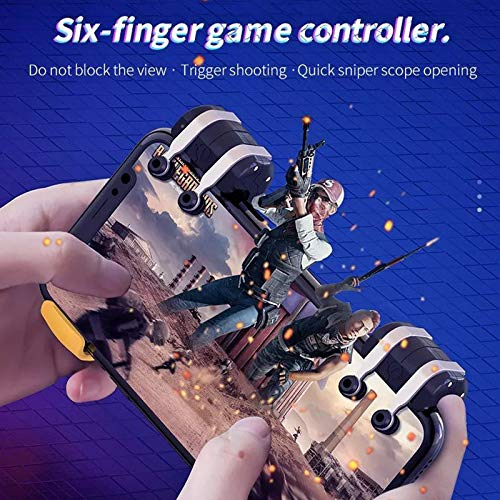 MeterMall Mobiele Controller Smart Phone Gaming Trigger voor PUBG Gamepad Shooter Joystick Fire Button voor Telefoon Android Game Pad