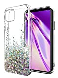 SunStory Designed for Google Pixel 4 Case,Luxury Fashion with Moving Shiny Quicksand Glitter and Double Protection with PC Layer and TPU Bumper Case for Google Pixel 4 Phone (Silver)