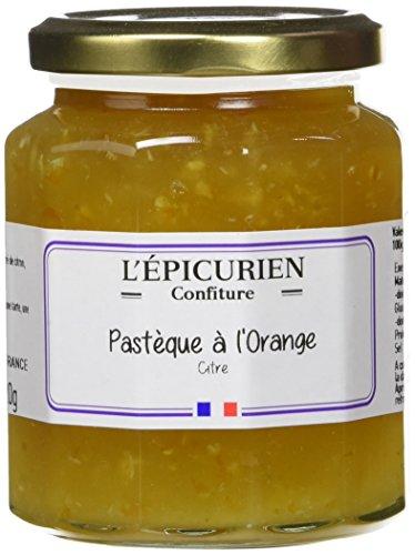 L'Epicurien Pastèque à l'Orange Citre Confiture 320 g - Pack de 3