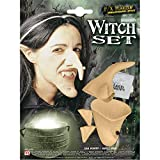 Sancto Señoras bruja Conjunto Prof (Oídos Nariz Chin) accesorios para disfraces de Halloween ,...