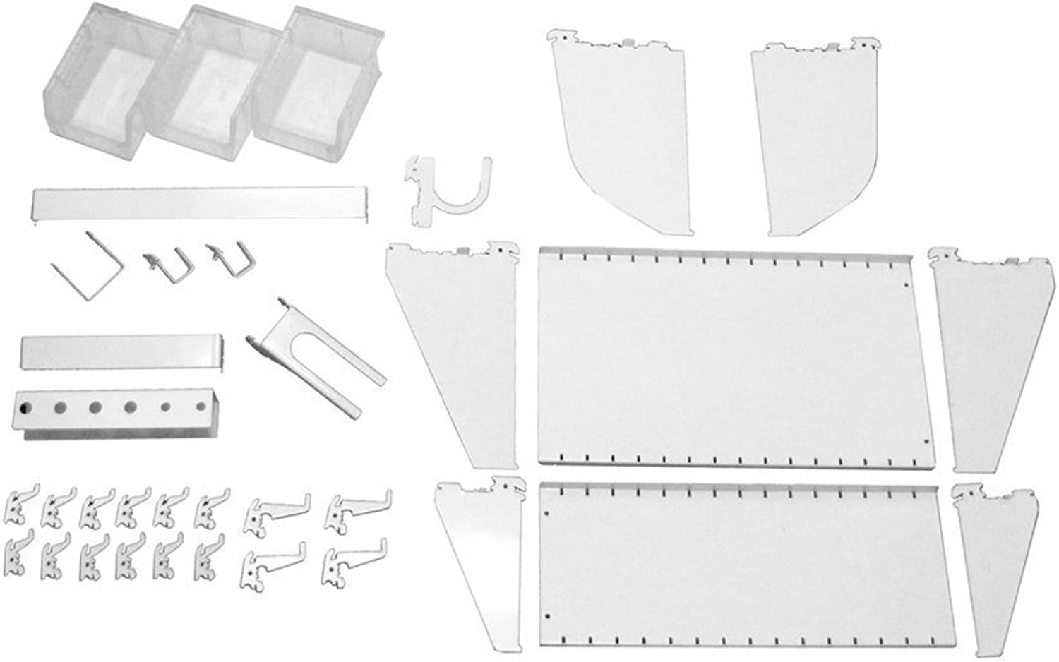 Wall Control Slotted Tool Board Workstation Accessory Kit Pegboard and Slotted Tool Board – White