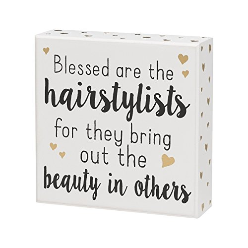 Collins Blessed are The Hairstylists Box Sign CS-9437