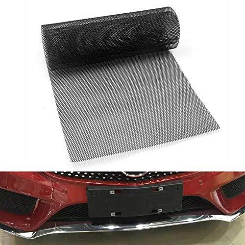 YJSZJY Car Grille, 40X13 Inch Universal Car Grille Mesh Metal Car Grille Web Leaf Grid Rhombian Grill Mesh Hole 8X16mm,Black