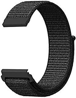 Ozone Gear S3 Frontier/Classic Loop Strap Breathable Nylon Strap Bands for Samsung Gear S3 Watch - Black