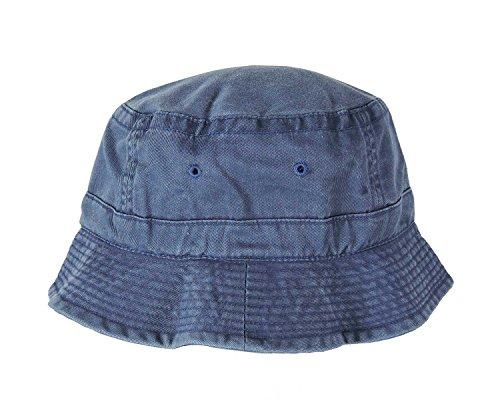 DALIX Navy Blue Washed Cotton Bucket Hat -Extra Large 7 3/8 Size