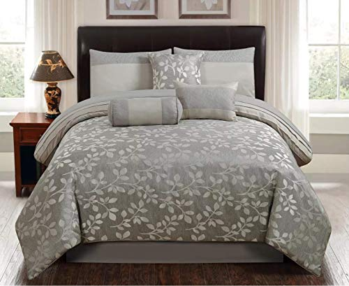 7pc Queen Selvy Comforter Set Silver - Riverbrook Home