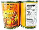 Trader Joe's Organic Pumpkin - 2 Pack - Each Can 15 Oz (425g)