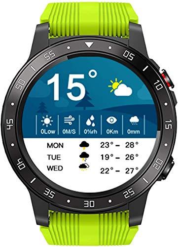 Reloj inteligente para hombre de 1,3 pulgadas de pantalla táctil reloj inteligente ritmo cardíaco brújula GPS reloj deportivo Bluetooth llamada Multi-sport mode-verde