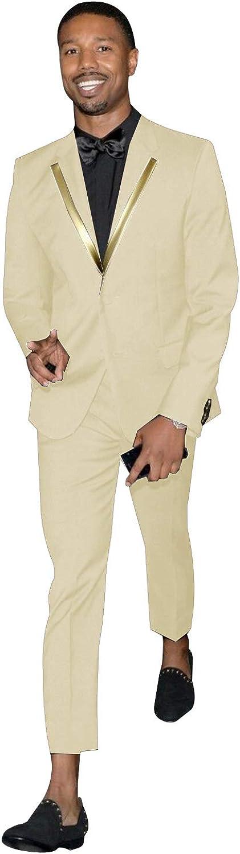 Frank Men's Slim Fit 2 Piece Suit for Men Two Buttons Casual/Formal/Wedding Tuxedo