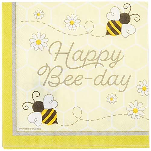 Creative Converting 339890 Bumblebee Baby Happy Birthday Servilletas de papel, multicolor