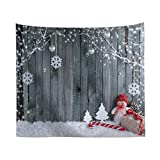 Solustre Photography Background Cloth,Woodgrain Photography Background Cloth Christmas Photography Background Cloth for Photography Studio