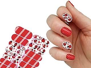 Ladybug Full Wraps Nail Art Decals Set of 20