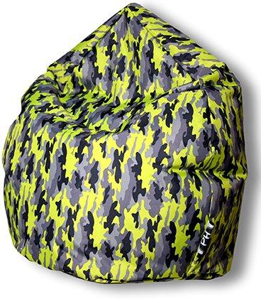 Patchhome Sitzsack Camouflage Tropfenform Kiwi für In & Outdoor XL 300 Liter - mit Styropor Füllung in 5 versch. Farben und 3 Größen