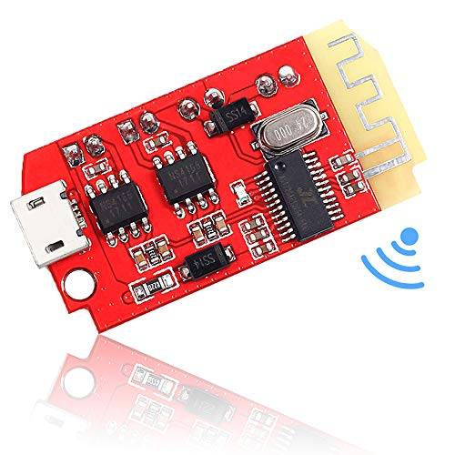 Icstation Bluetooth Receiver Board BT 5.0 Stereo Audio Amplifier 2x5W Mini Power Amp Module 3.7-5V for DIY Wireless Speaker