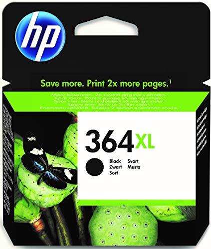 HP 364XL CN684EE Negro, Cartucho de Tinta de Alta Capacidad Original, de 550 páginas, para impresoras HP Photosmart serie C5300, C6300, B210, B110 y Deskjet serie 3520