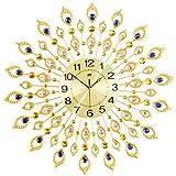 RH-ZTGY Reloj De Pared con Piedras Preciosas, Ronda De Reloj