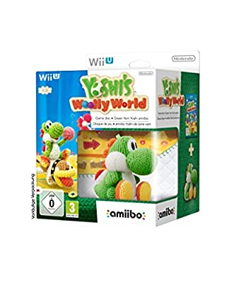 Yoshi's Woolly World and amiibo Green Yoshi Bundle (Nintendo Wii U)
