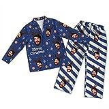Pijamas Personalizados para Mujeres, Hombres, Foto Personalizada, Cara de Mascota, Vacaciones, Pijamas de Navidad, Conjunto de Pijamas a Juego con la Familia, Navidad Jammies