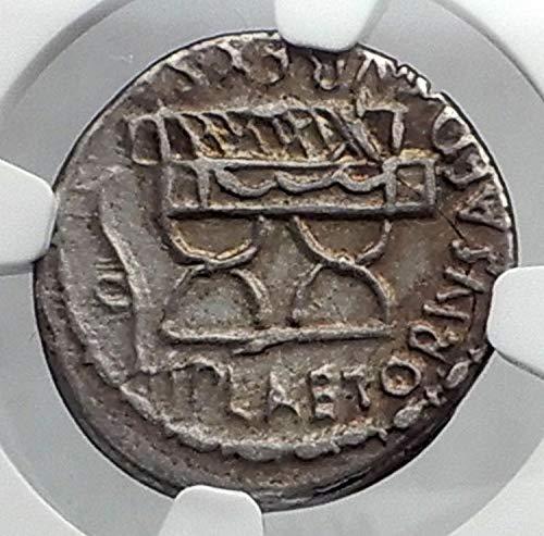 1 IT Roman Republic 67BC Cybele Curule Chair Ancient A Denarius XF NGC
