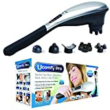 uComfy Pro 1679 Rechargeable Handheld Deep Tissue Percussion Massager for Back Neck Shoulders Leg Foot and Sore Muscle Therapy with Electric Charging Stand and Massaging Heads As Seen On TV