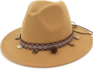 Sun Hat for men and women Fashion Wool Women Fedora Hat Belt With Wide Brim Ornaments Fedora Hat Outdoor Casual Hat Top Jazz Hat