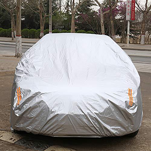 HYwot Couverture Automatique de Voiture, Télécommande Intelligente de Protection Contre Solaire/Pluie/résistance aux Rayures de Couverture Universelle de Protection du Soleil, pour SUV,Argent