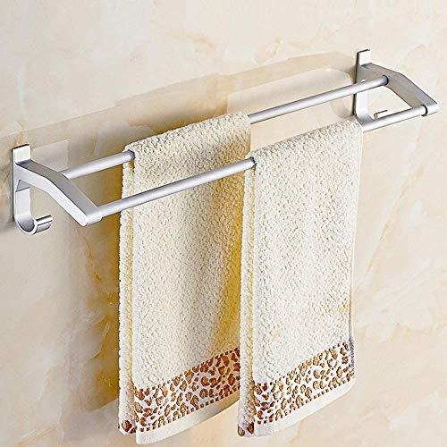 Towel rack Towel Bar Towel Rack Kitchen Bathroom Hardware Pendant Space Aluminum Wall Mount Screw Wall Mounted Towel Holder Single Towel Rail Towel Rack Shelf Bearing Strong Towel Bar(Size:50cm)