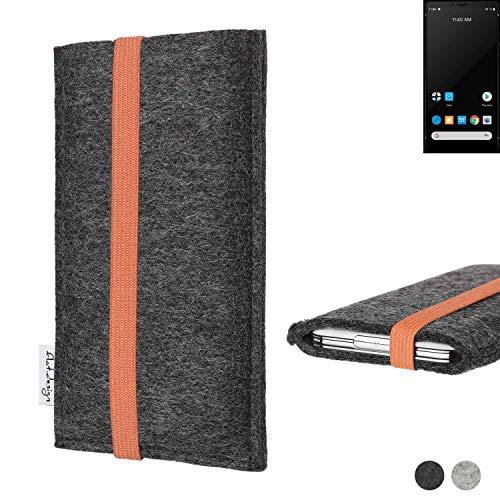 flat.design vegane Handy Tasche Coimbra für Carbon 1 MKII - Schutz Hülle Tasche Filz vegan fair orange