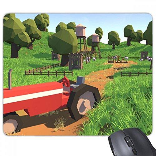 Boerderij spel Truck Scene Rechthoek Niet-slip Rubber Mousepad Game Mouse Pad Gift