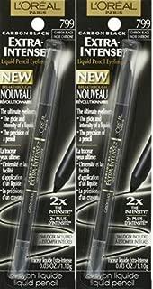 L'Oreal Paris Cosmetics Extra-Intense Pencil Eyeliner, Carbon Black, 2 Count