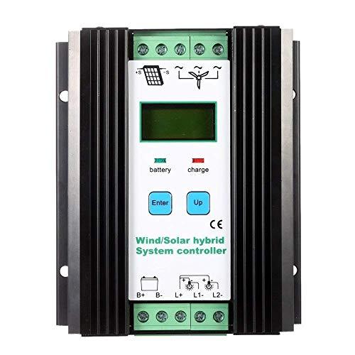 Regulador híbrido solar del sistema del viento del PWM económico del LCD 12v / 24v Controlador automático de la batería de la identificación (viento 600w + solar 400w)