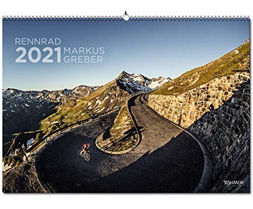 Yohmoe® Rennrad Kalender 2021 by Markus Greber im großen Panorama-Format. Freu Dich auf deine Tour 2021.