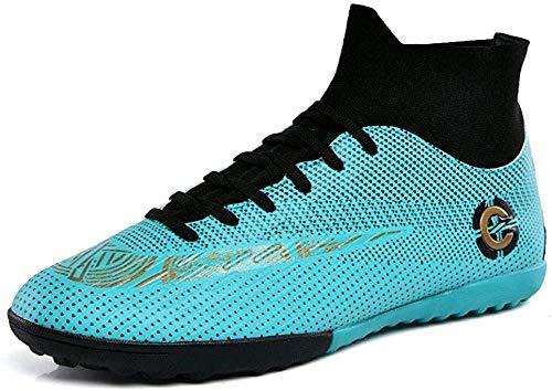 Mengxx Fußballschuhe für Herren, FG-Schuhe (fester Untergrund) mit hohem Schaft, für Sport, - Green R - Größe: 38 EU
