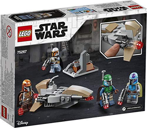 LEGO 75267 Star Wars Mandalorian Battle Pack Set with 4 Minifigures, Speeder Bike and Mini-fort