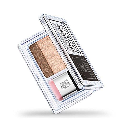 Lidschatten, 2 Farben IDLER schrittweise Augenschminke-Pulver-Palette glänzende Matte Glitter...