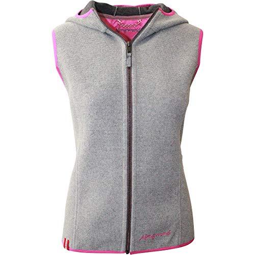 Almgwand W Bichleralpe grijs, dames vest, maat 42 - kleur lichtgrijs - roze