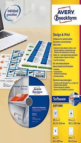 Avery Zweckform Design-Print-Software/ADP5000