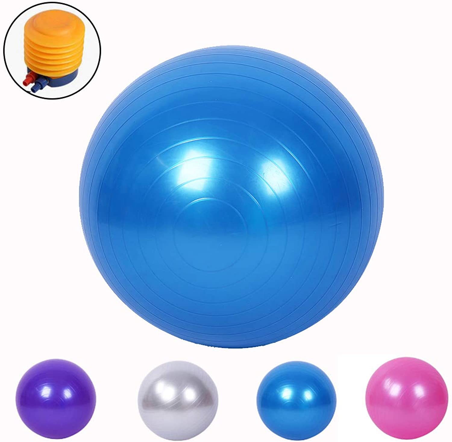 Exercise Ball, Gym Ball, AntiBurst & Extra Thick, Swiss Ball with Quick Pump, Birthing Ball for Yoga, Pilates, Fitness, Pregnancy & Labour