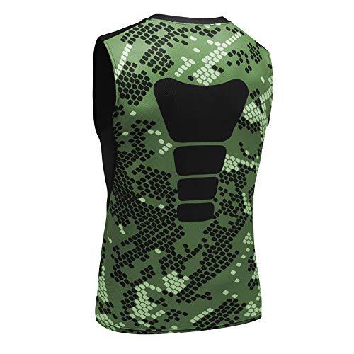 AMZSPORT Camiseta sin Mangas de Compresión Ropa Deportiva Base Layer para Correr, Camuflaje, M
